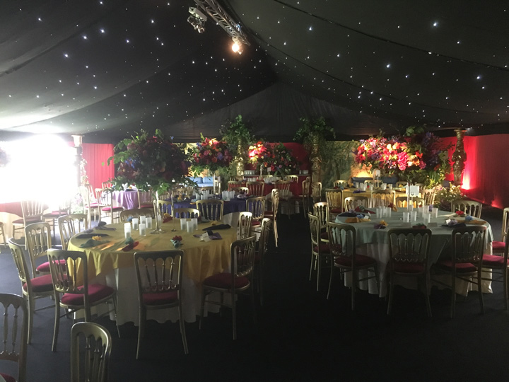 Lined marquees for hire