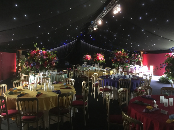 Hire marquees for evening parties