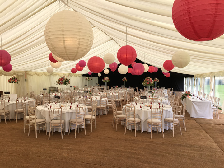 Hire marquees for weddings in Wiltshire