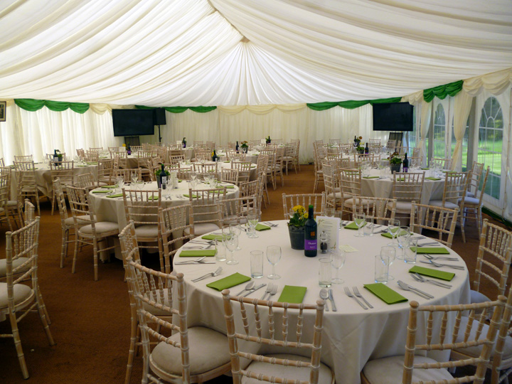 Hire marquees for annual sports dinner