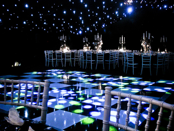 Marquee seating and dancefloor