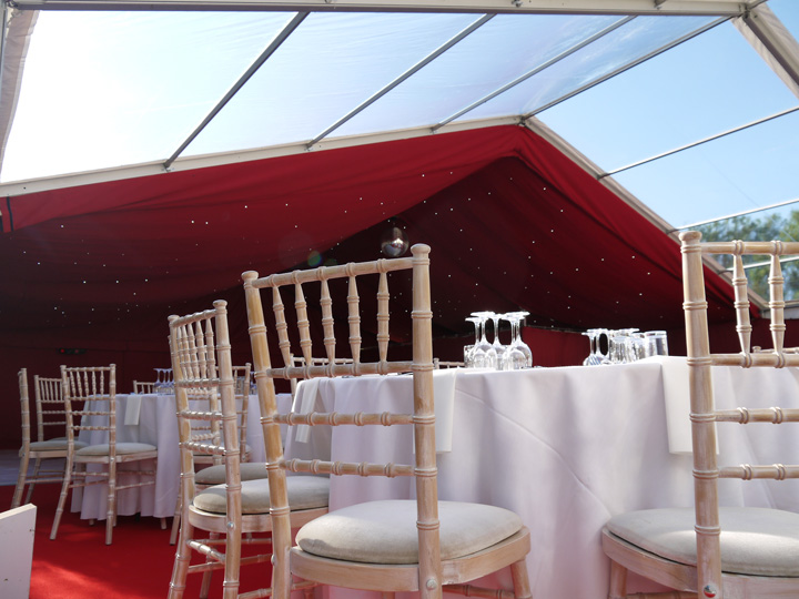 Marquee roof lining